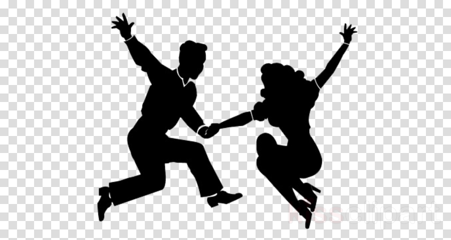 silhouette happy dance swing playing sports