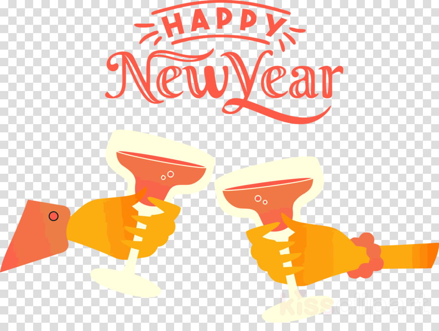 Happy New Year Orange 52