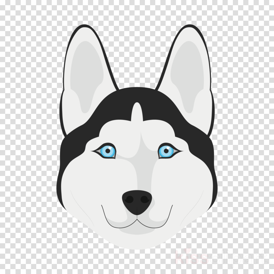 siberian husky dog cartoon nose head