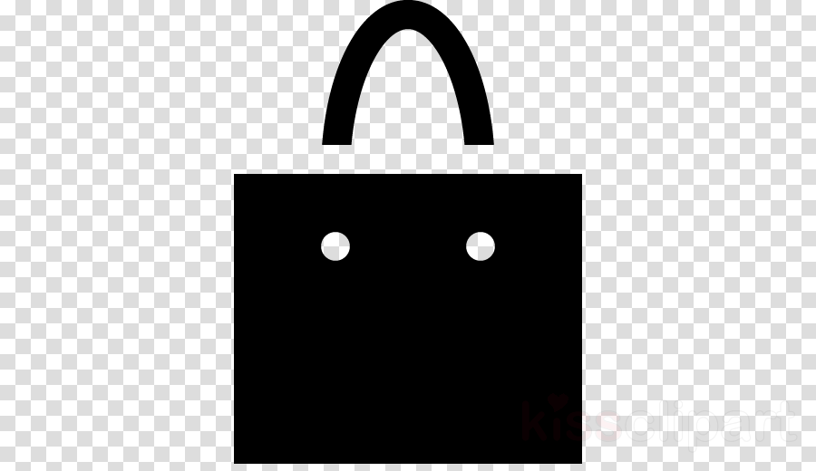 black bag handbag black-and-white icon