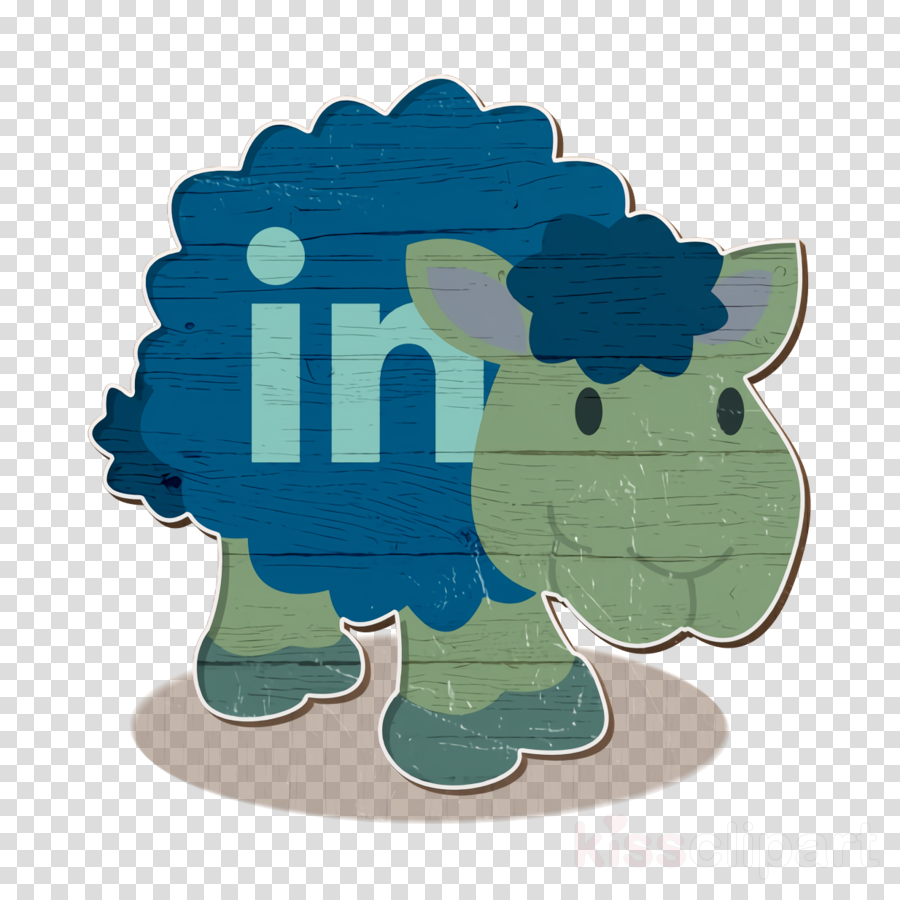 linkedin icon sheep icon social network icon