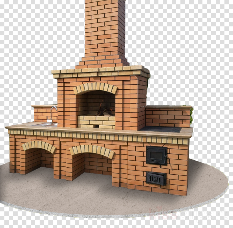 Brick Hearth Chimney Masonry Oven Architecture Clipart Brick
