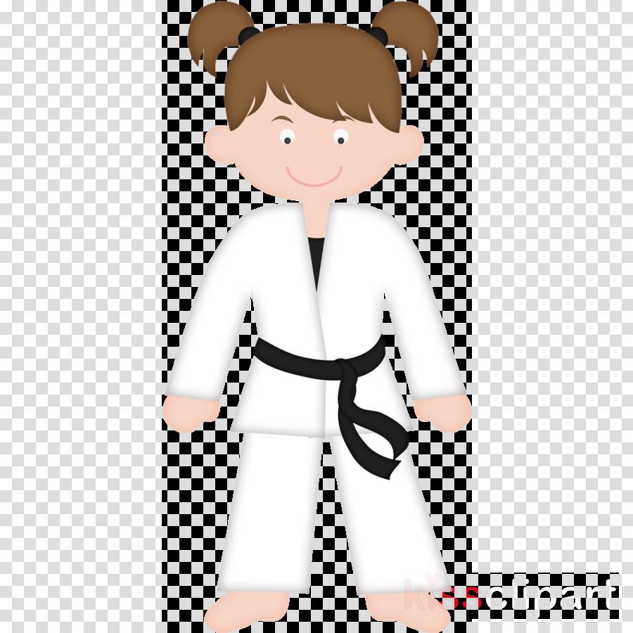 cartoon karate male smile