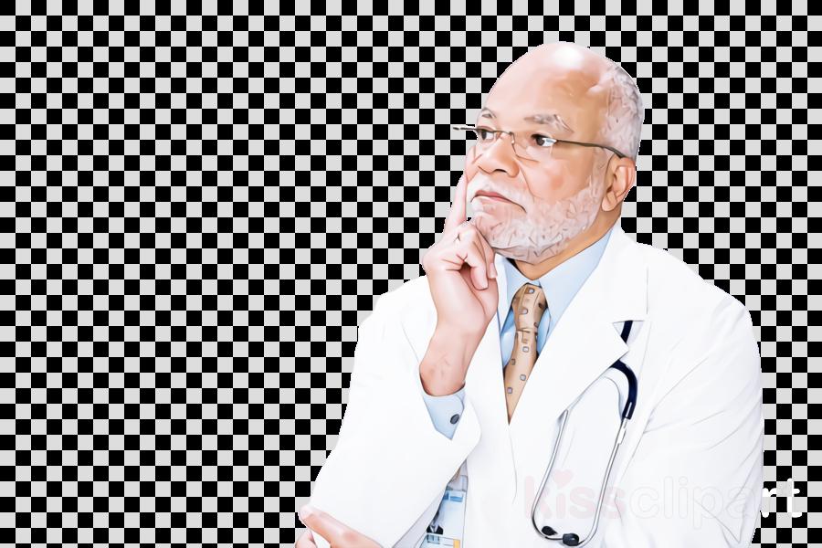 chin businessperson physician gesture service