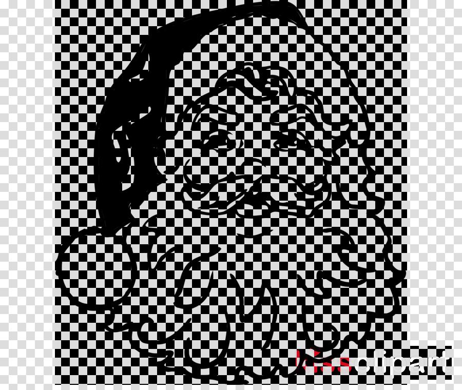 Santa Claus Clipart Face Hair White Transparent Clip Art