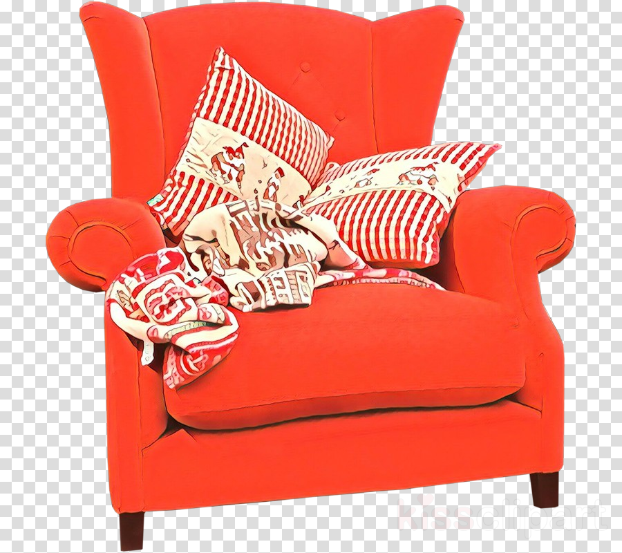 furniture red chair couch room