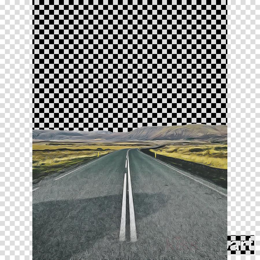 road asphalt horizon highway line