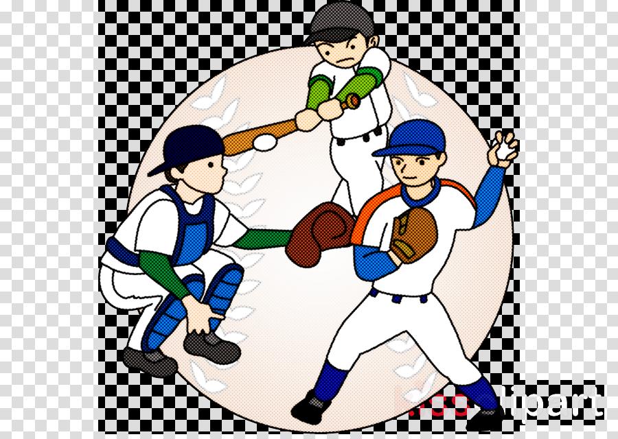 Baseball Player Cartoon Basketball Player Team Playing Sports Clipart Baseball Player Cartoon Basketball Player Transparent Clip Art