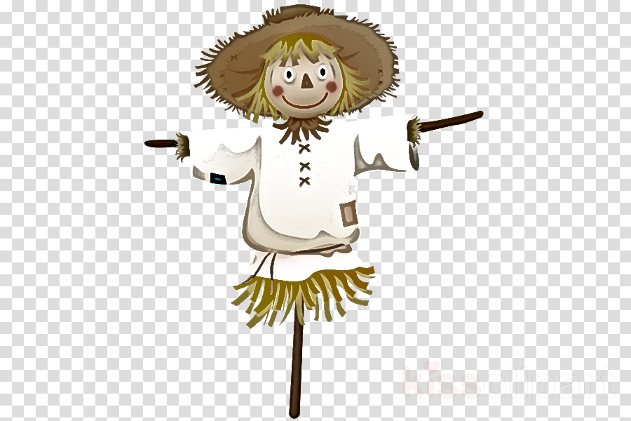 cartoon scarecrow broom costume