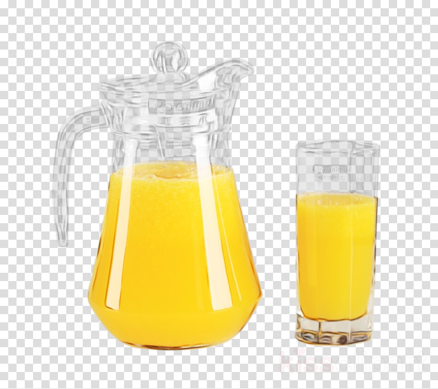 juice yellow orange juice orange drink pitcher