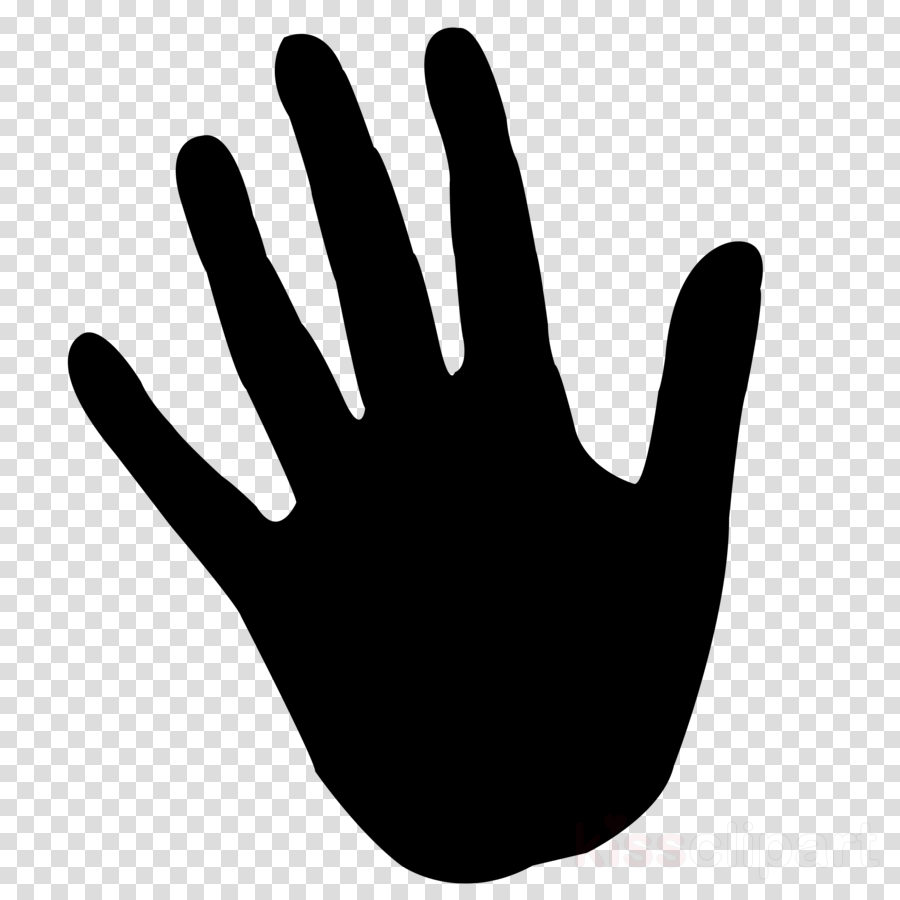 finger black hand personal protective equipment line