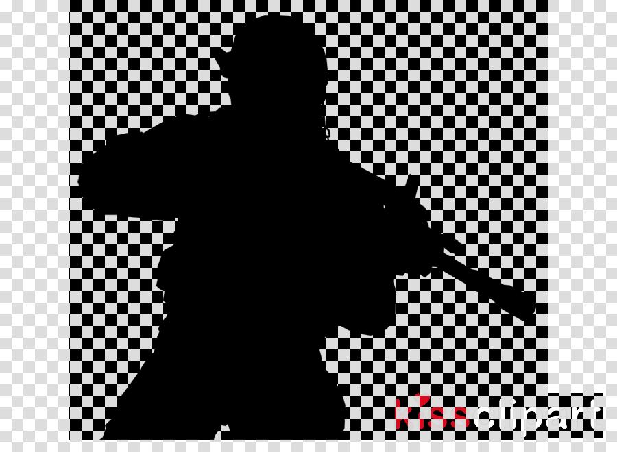 silhouette gun firearm soldier assault rifle