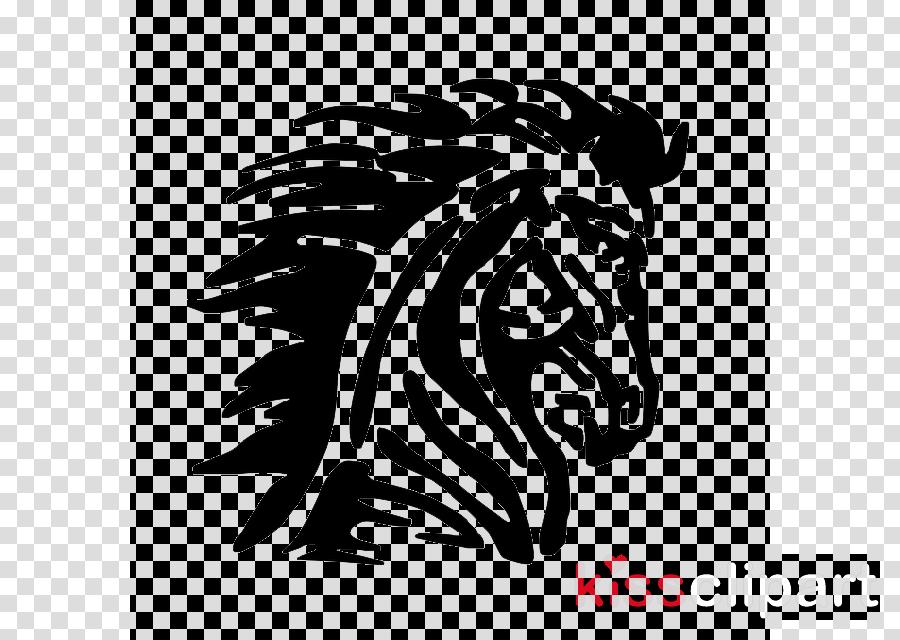 head black-and-white wildlife stencil font