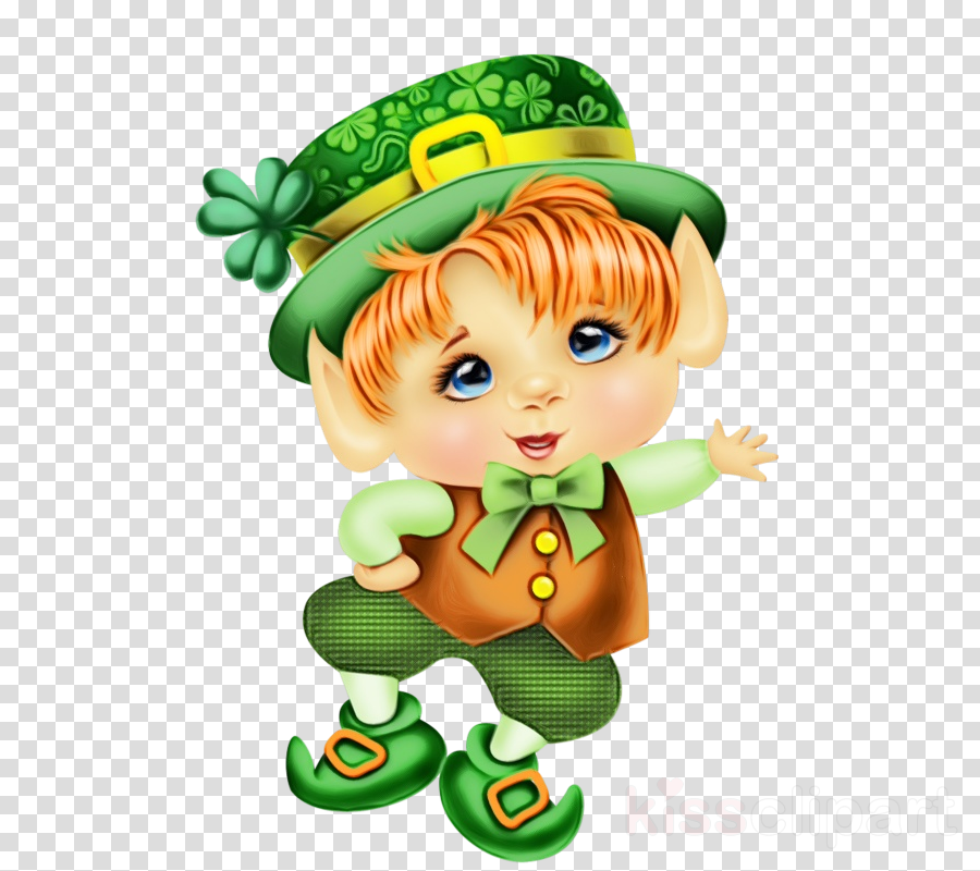 Saint Patrick S Day Clipart Cartoon Green Leprechaun