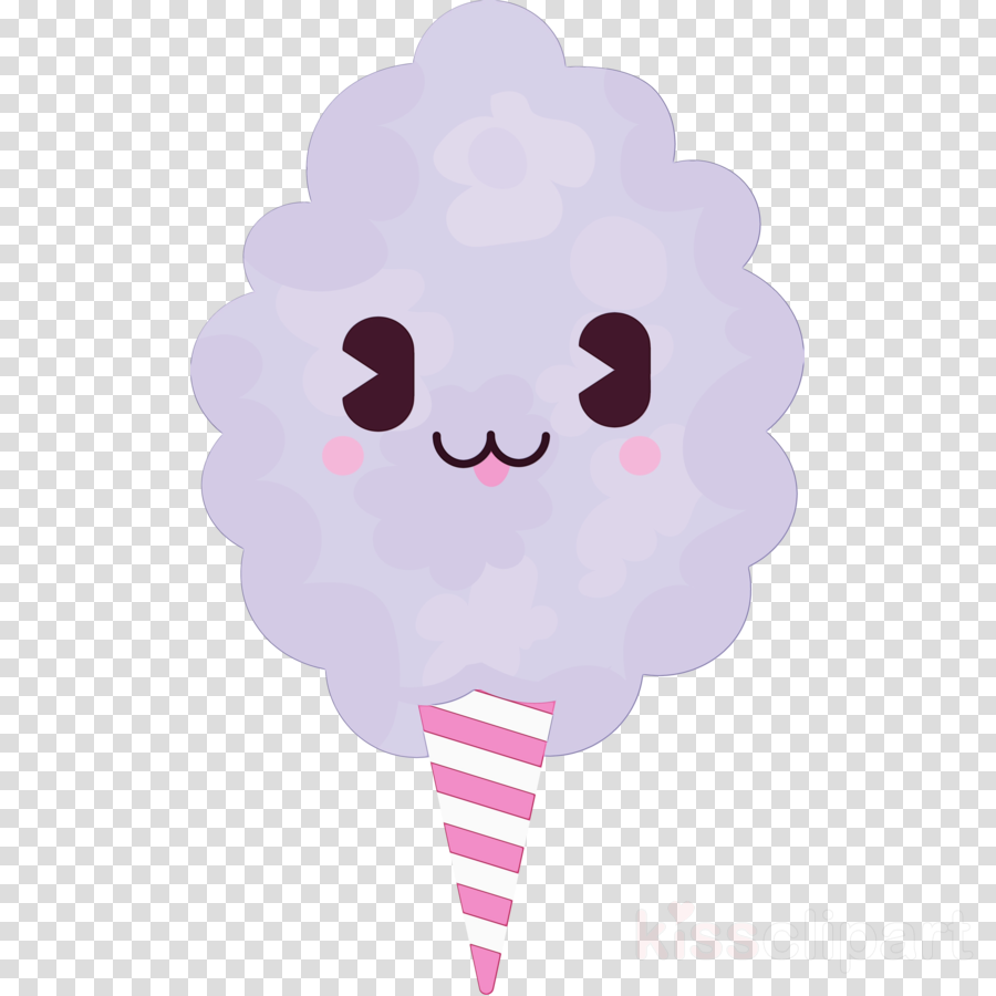 pink cartoon cloud frozen dessert cotton candy