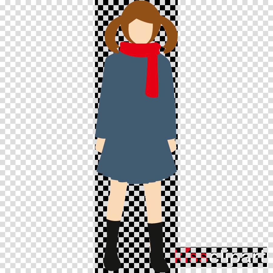 winter girl high school girl girl clipart , Clothing, Aline