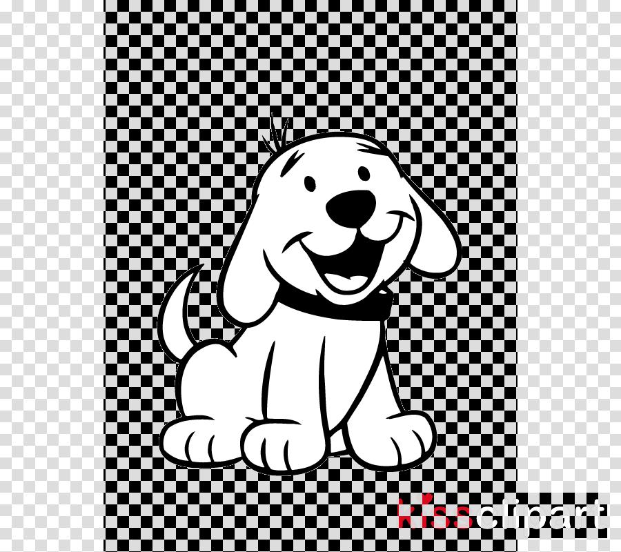 White Line Art Cartoon Dog Facial Expression Clipart White Line Art Cartoon Transparent Clip Art