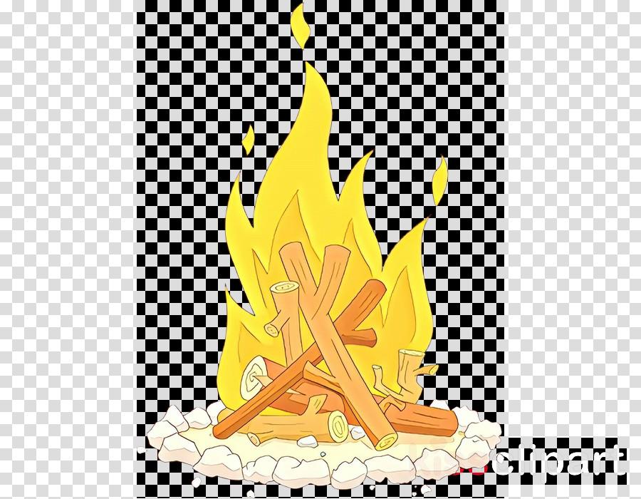 yellow flame campfire fire bonfire