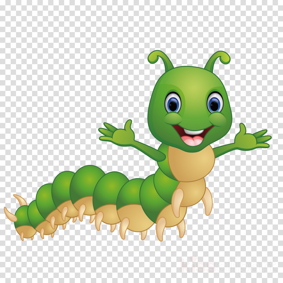 Caterpillar Insect Cartoon Larva Green Clipart Caterpillar