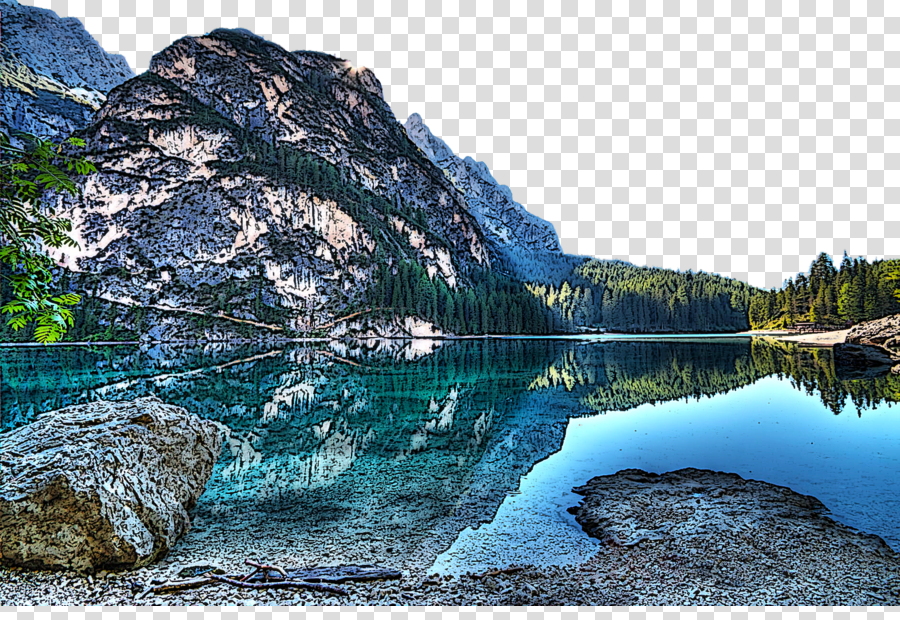 natural landscape body of water nature water mountain