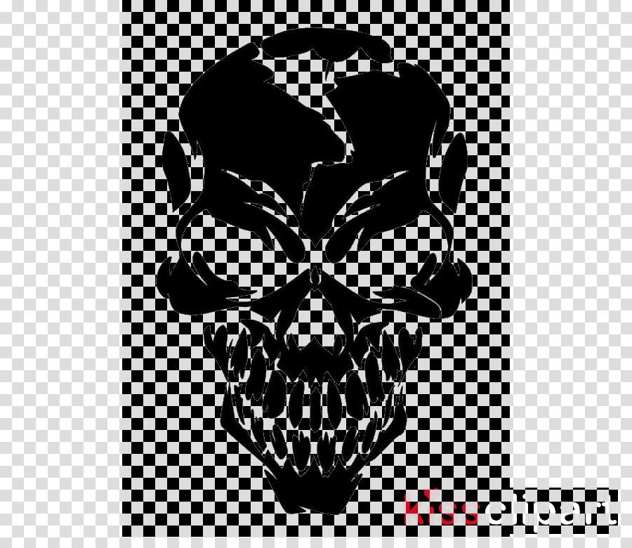 head logo automotive decal bone skull