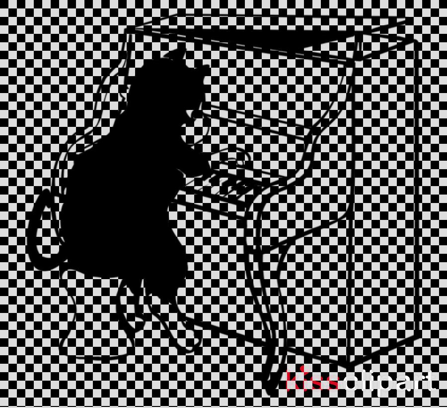 pianist piano spinet cartoon player piano