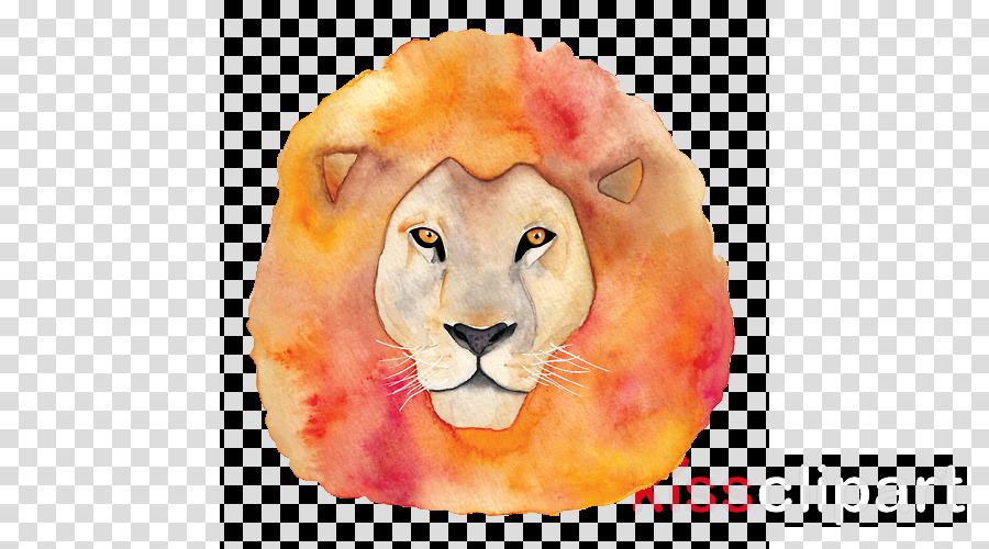 lion watercolor paint snout wildlife paint