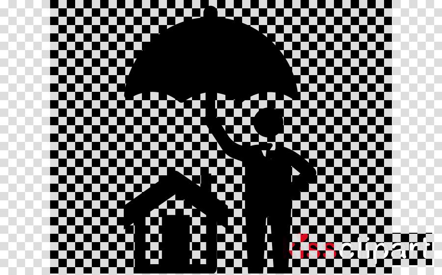 umbrella white black text font