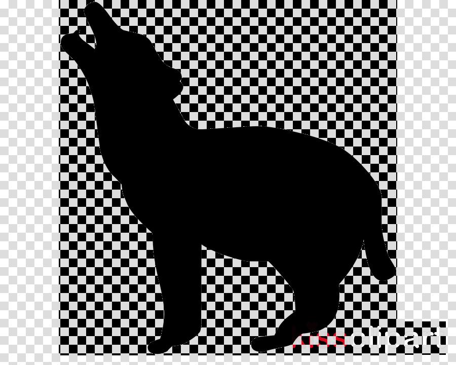 silhouette animal figure tail wildlife black-and-white