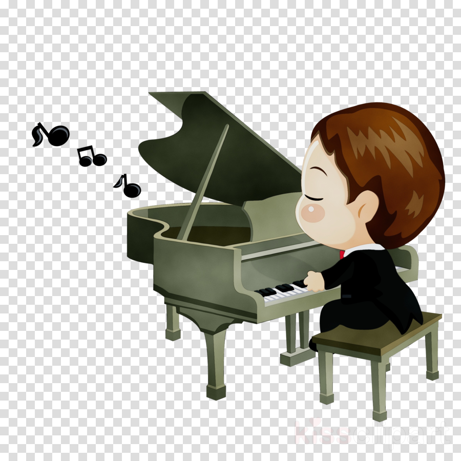 pianist piano cartoon player piano musician