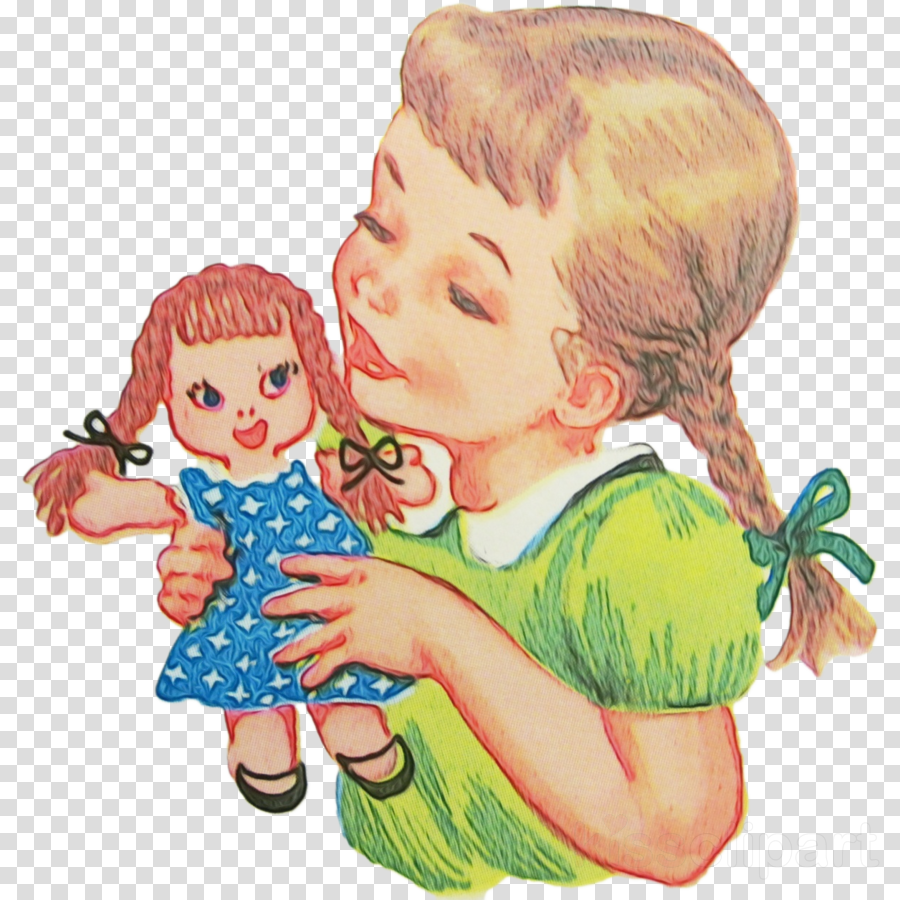 cartoon cheek child sharing mother