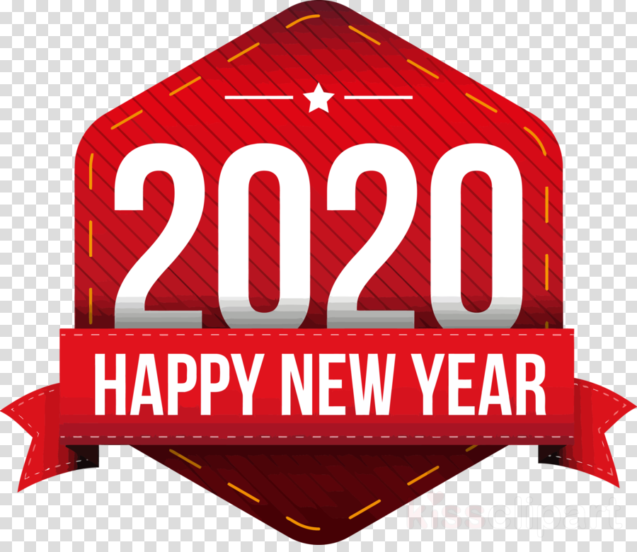 Happy New Year 2020 New Years 2020 2020 Clipart Red Logo Signage Transparent Clip Art