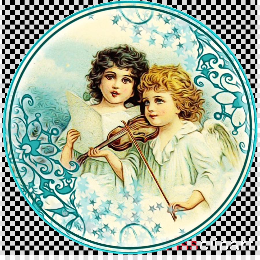 aqua clock plate angel