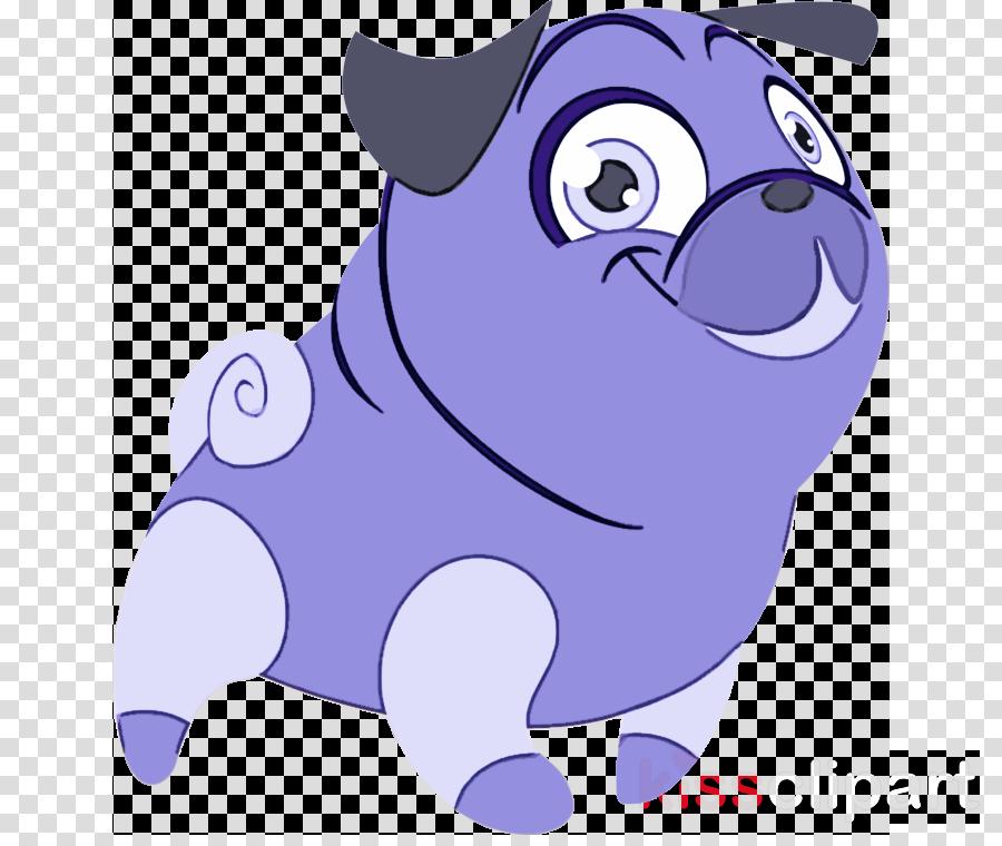 cartoon snout purple violet pug
