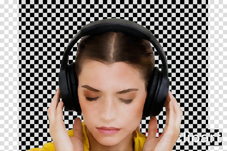 face headphones hair ear forehead