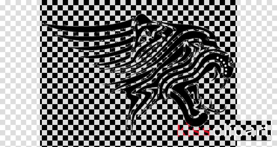 black-and-white stencil logo fish tattoo