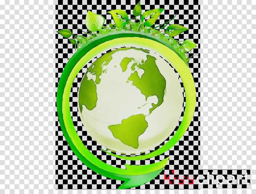 green leaf plant logo world