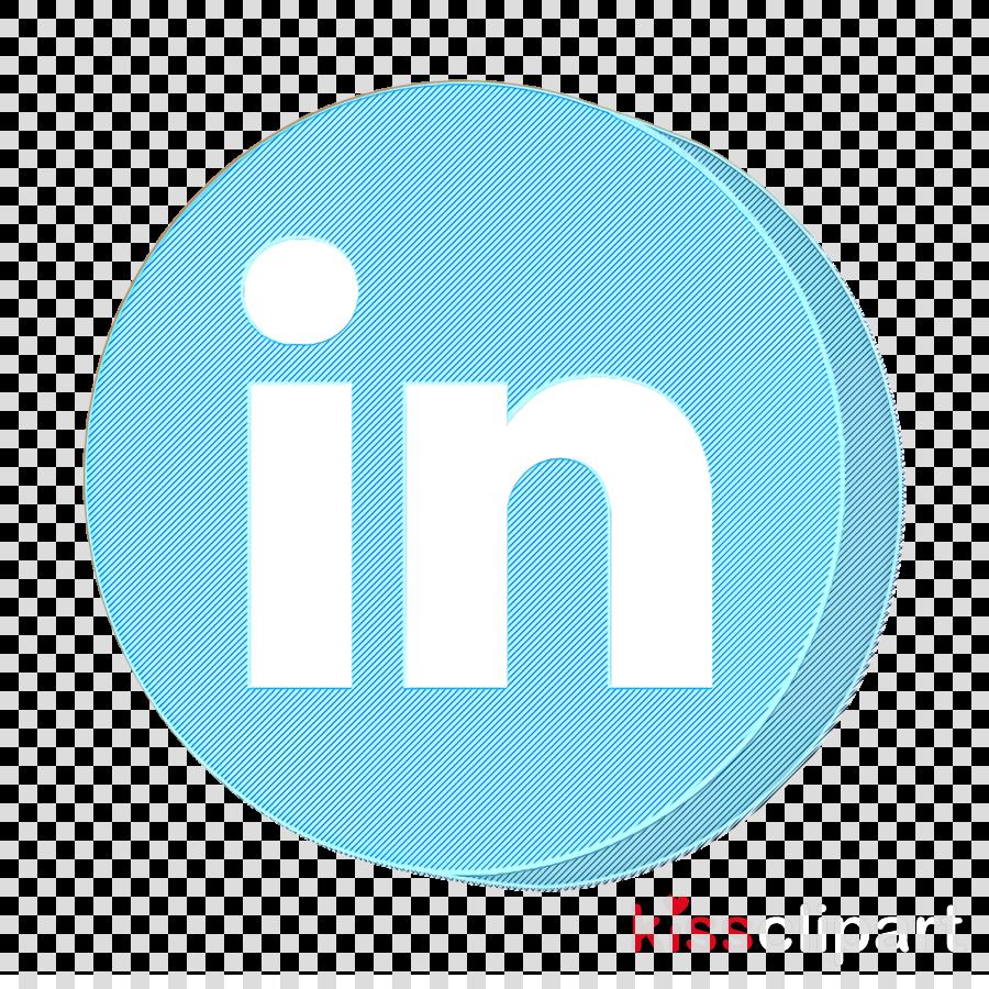 Linkedin Icon Media Icon Network Icon Clipart Blue Text