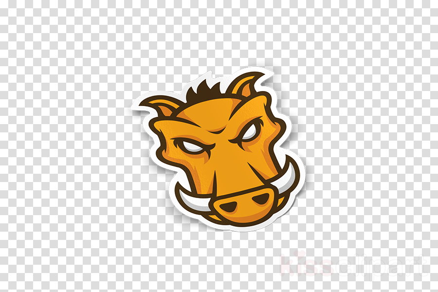 cartoon head lion yellow snout
