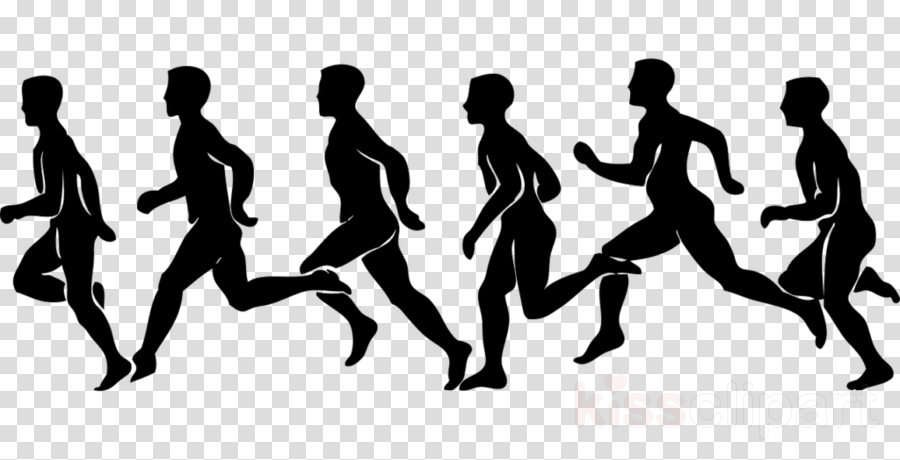 silhouette running human playing sports recreation