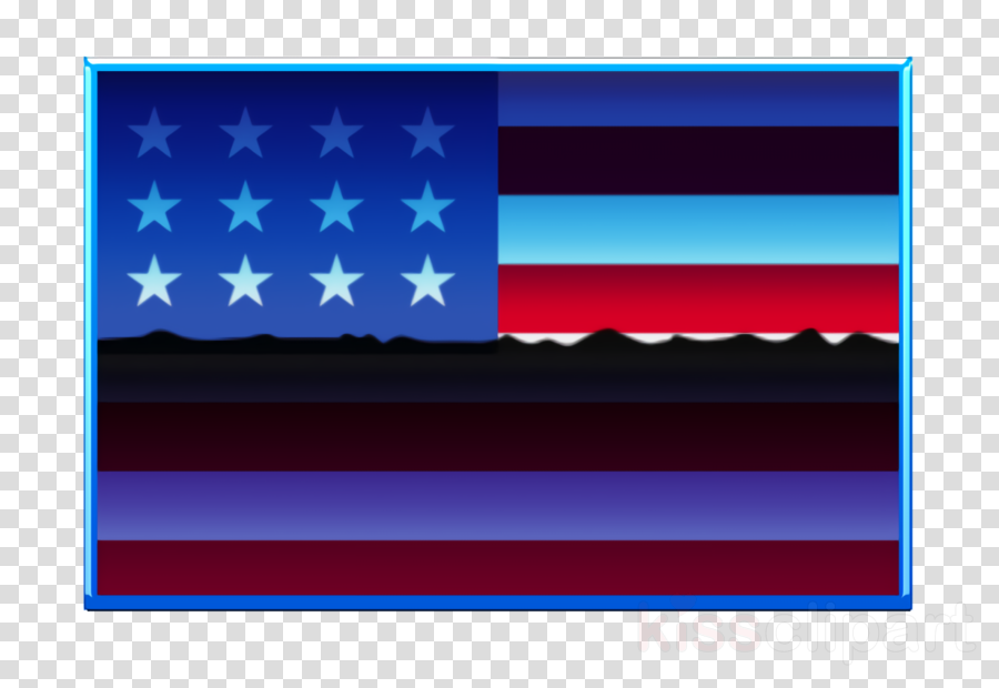 United states of america icon Flag icon Rectangular country simple flags icon