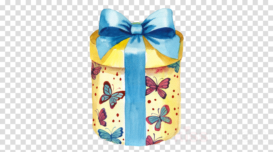 blue turquoise yellow ribbon butterfly