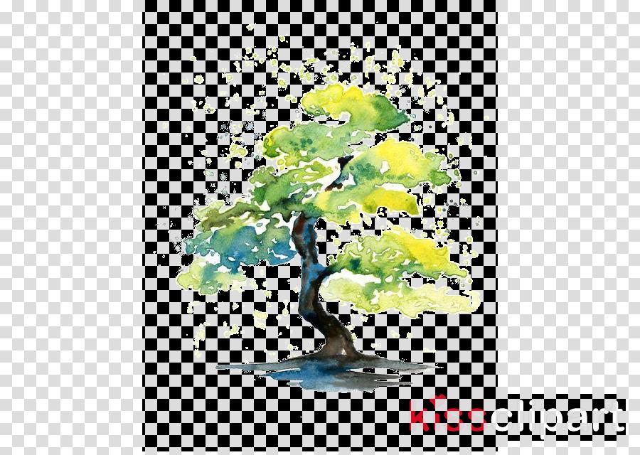 watercolor paint tree plant paint flower