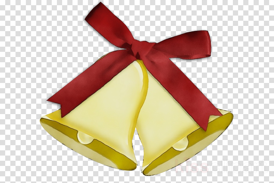 ribbon yellow red present bell