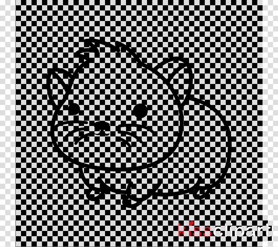 white cartoon head snout line art