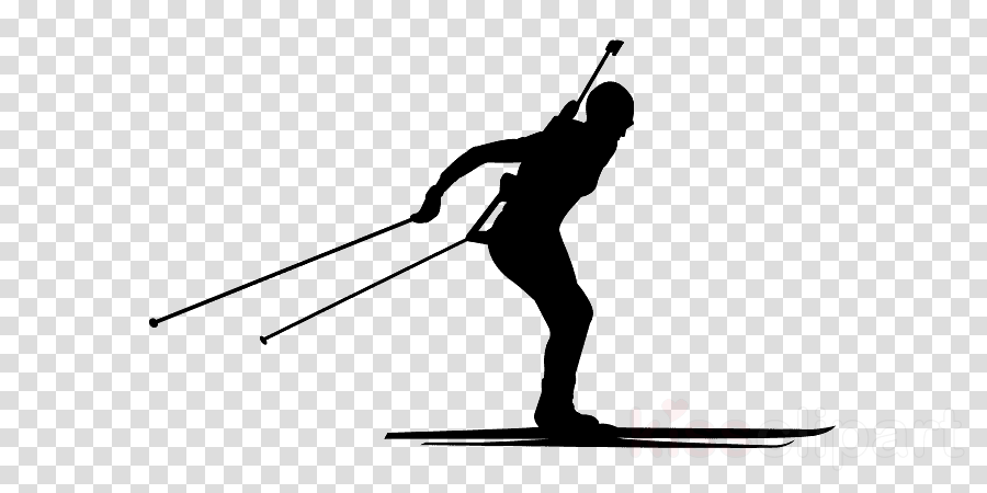 skier standing silhouette cross-country skiing recreation