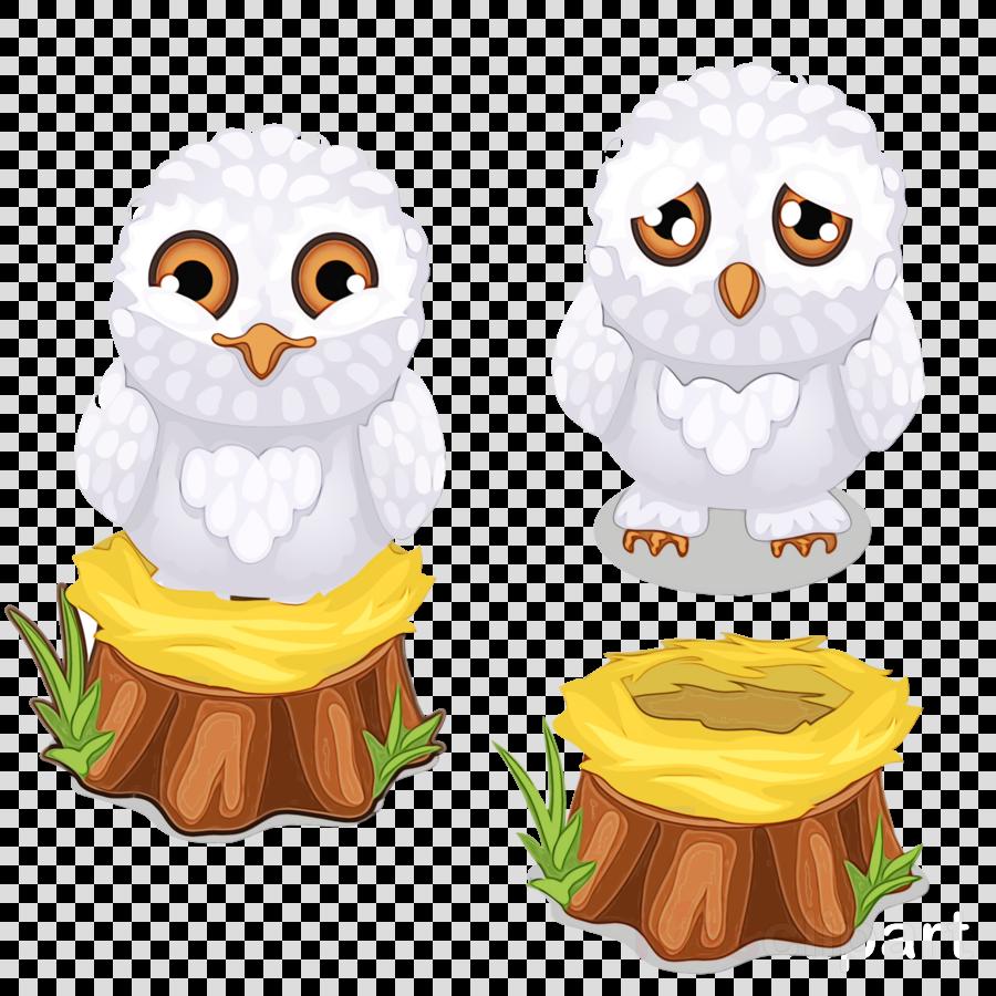 owl cartoon snowy owl bird of prey bird