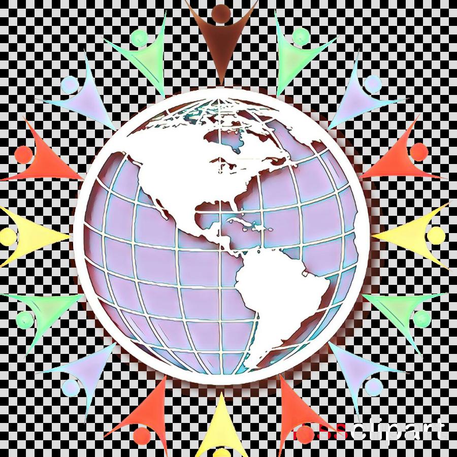 globe world circle pattern earth