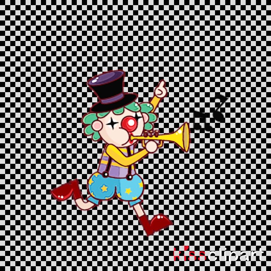 cartoon animation clown