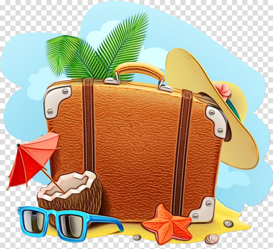 suitcase cartoon travel hand luggage baggage